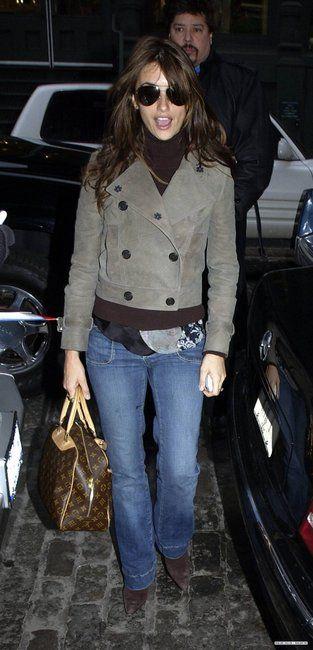 1f59cf86b01c penelope cruz with louis vuitton bag | Penelope Cruz and Louis Vuitton  Trouville Bag Photograph - 2005