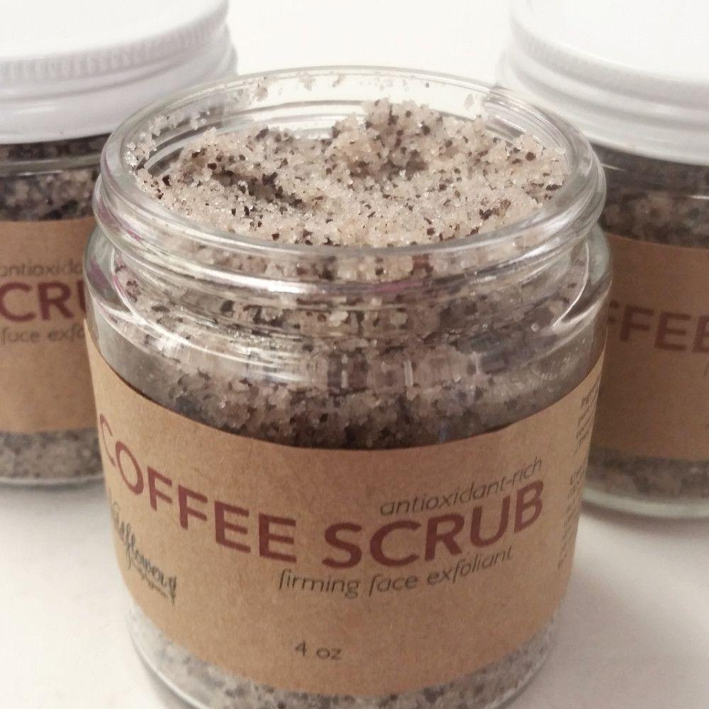 Coffee scrub face exfoliating sugar scrub coffee face