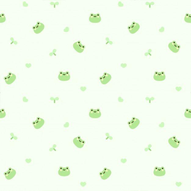 Frog Seamless Pattern Background