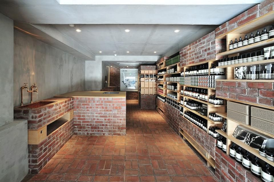 bricks furniture. Jo Nagasaka Of Schemata Gives A 35-year-old Shoe Shop New Brick Bricks Furniture
