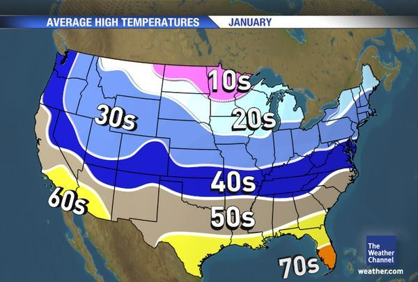 this link shows weather in all usa by each month. | Map ...