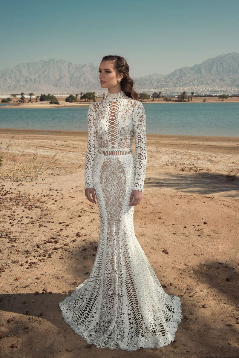 Long sleeve wedding dress oved cohen summer bridal couture
