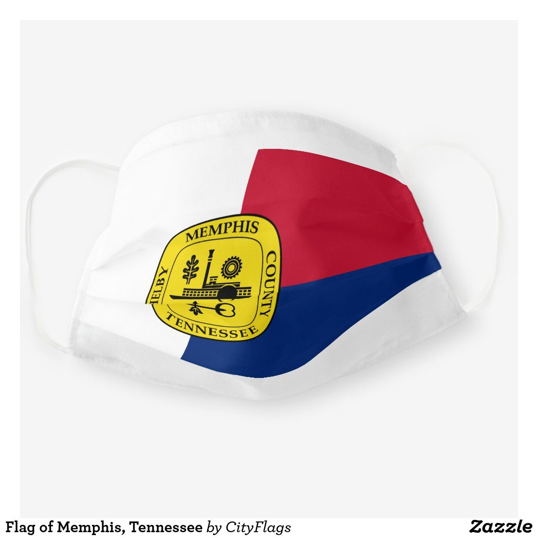 Flag of memphis tennessee cloth face mask in