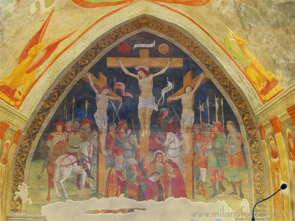 Cogliate (Milano, Italy) - Fresco of the crucifixion in the Church of San Damiano