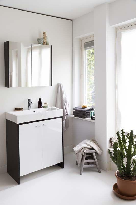 KARWEI | Zwart-wit doet het altijd goed in de badkamer. #karwei ...