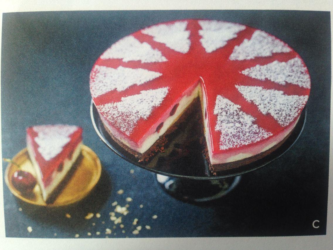 White Stencil Cheesecake