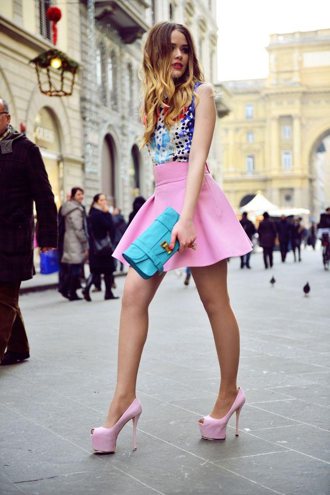 Pastels Street Style | http://perfectprincesspout.tumblr.com/post/41686798310