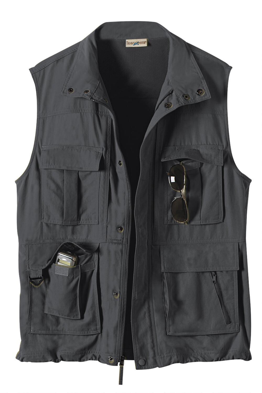 Men's 15Pocket Voyager Vest Travel Smith Mens pocket