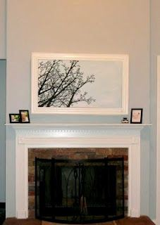 Tutorial on disguising a wall-mounted TV