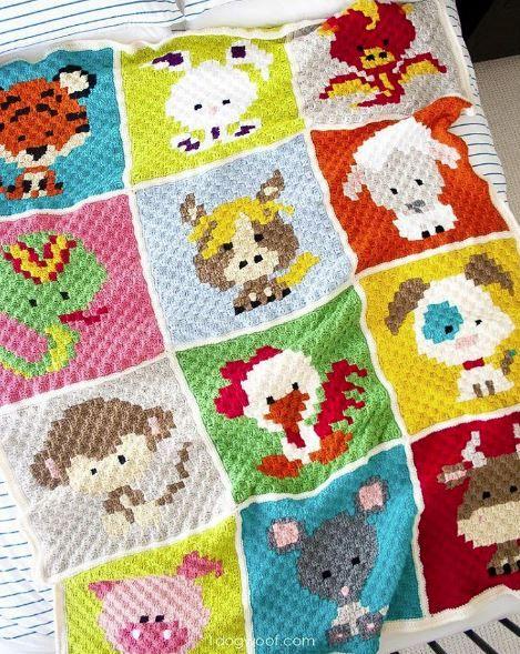 Crochet Your Own Zoodiacs Blanket Top Crochet Pattern Blog