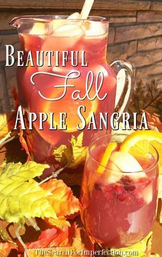 Easy and delicious Apple Spice Sangria is perfect for fall!  Easy and delicious …