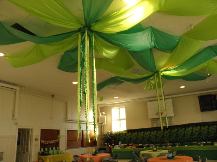Birthday Calendar Ideas For Classroom : Birthday party decoration jungle ceiling google search