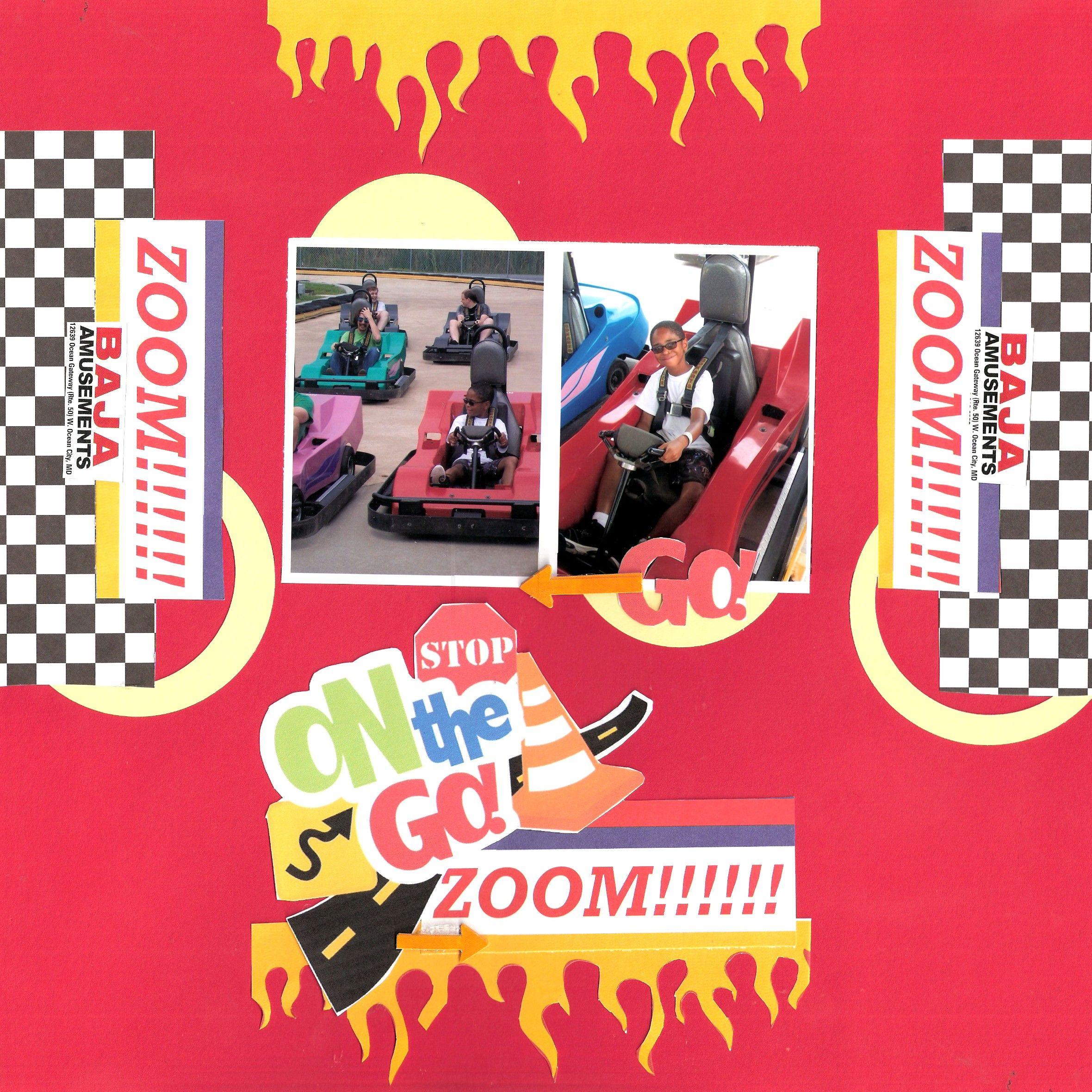 On The Go!! Zoom!!   ***Ocean City MD / Baja Amusements*** - Scrapbook.com