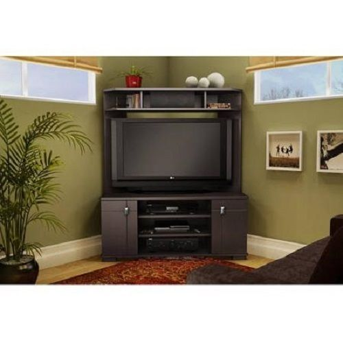 Flatscreen Tv Stand Entertainment Console Television Shelf Corner Interesting Living Room Corner Furniture Designs Review