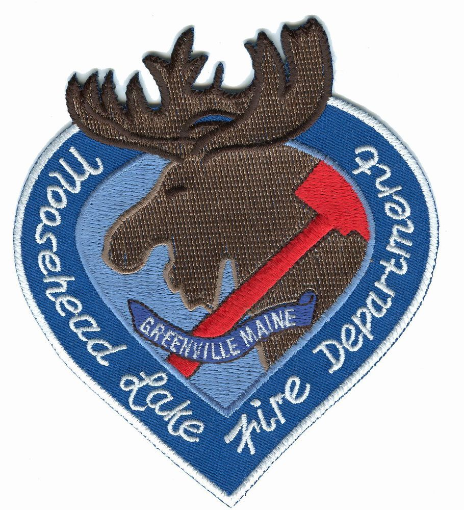 """4/"""" x 4.5/"""" size fire patch Moosehead Lake // Greenville Fire Dept. Maine"""