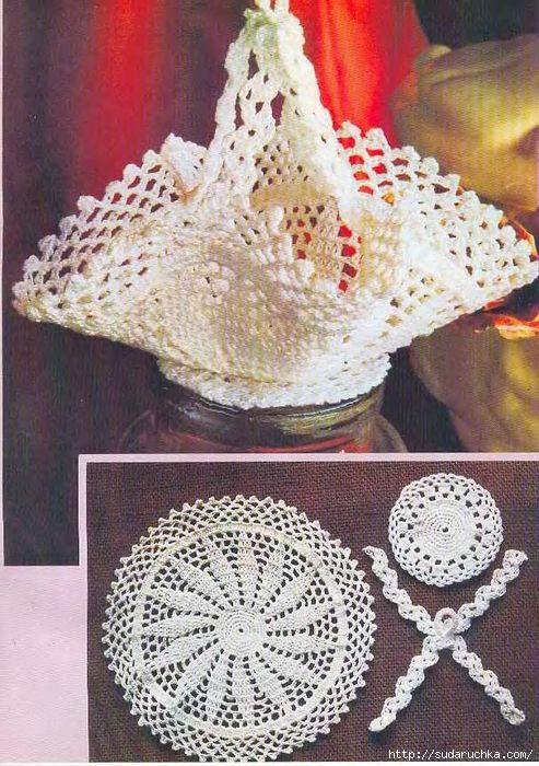 Crochet nappes points de tricot crochet - Cestas de ganchillo ...