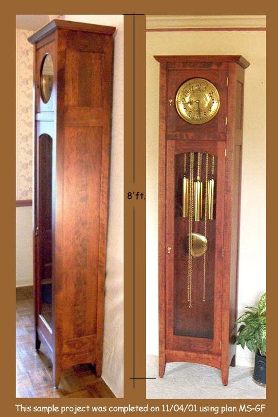Craftsman Mission Style Grandfather Clock Plan Building An Heirloom