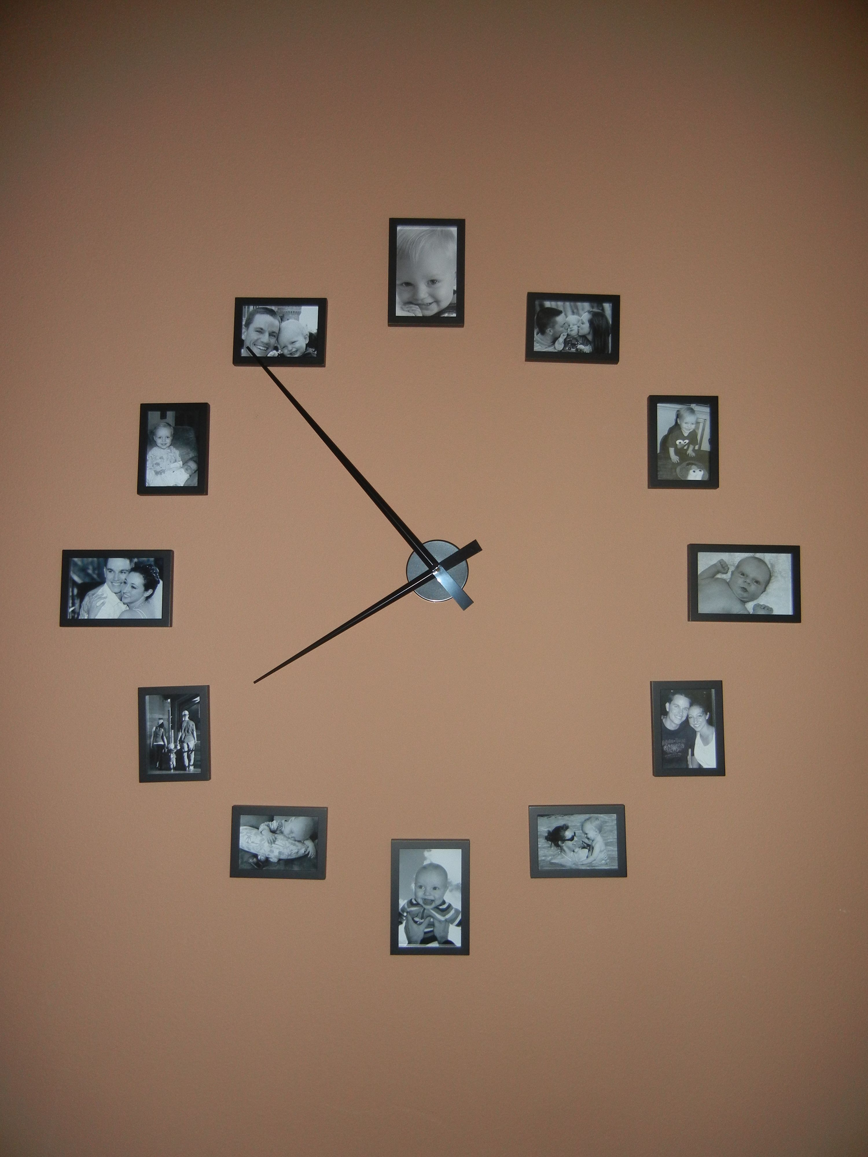 Large wall clock out of picture frames use 4x6 for 12 3 6 and large wall clock out of picture frames use 4x6 for 12 3 6 amipublicfo Gallery