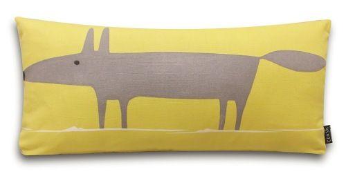 Scion Mr Fox Cushion Yellow and Grey