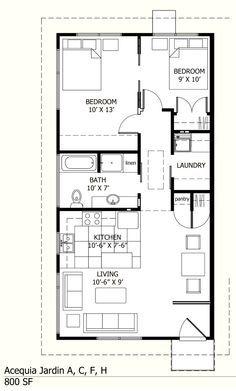 20 X 40 Apartment Plans Apartment Plans Small House Plans House Floor Plans