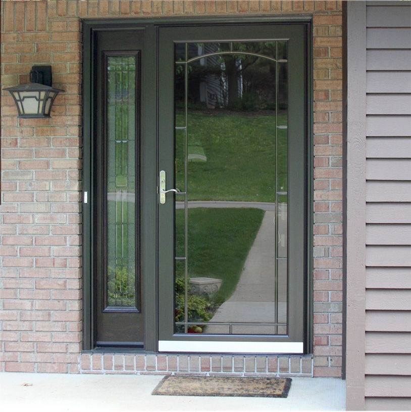 Beautiful Full View Storm Door With Sidelite Windows Doors