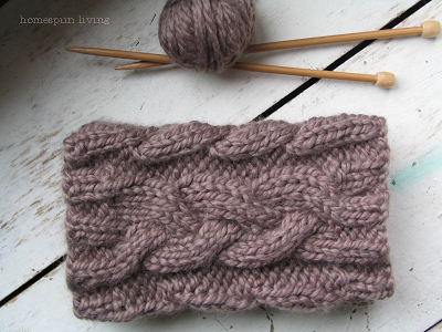 Homespun Living A Free Boot Cuff Pattern Just For You Knitting