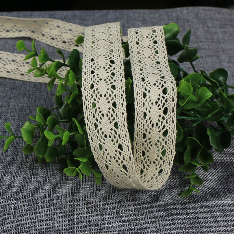 The New 10 Yards Handcrafted Embroidered Cotton Lace Fabric 30mm Width Sewing  Lace Ribbon High Quality DIY Costume Decoration