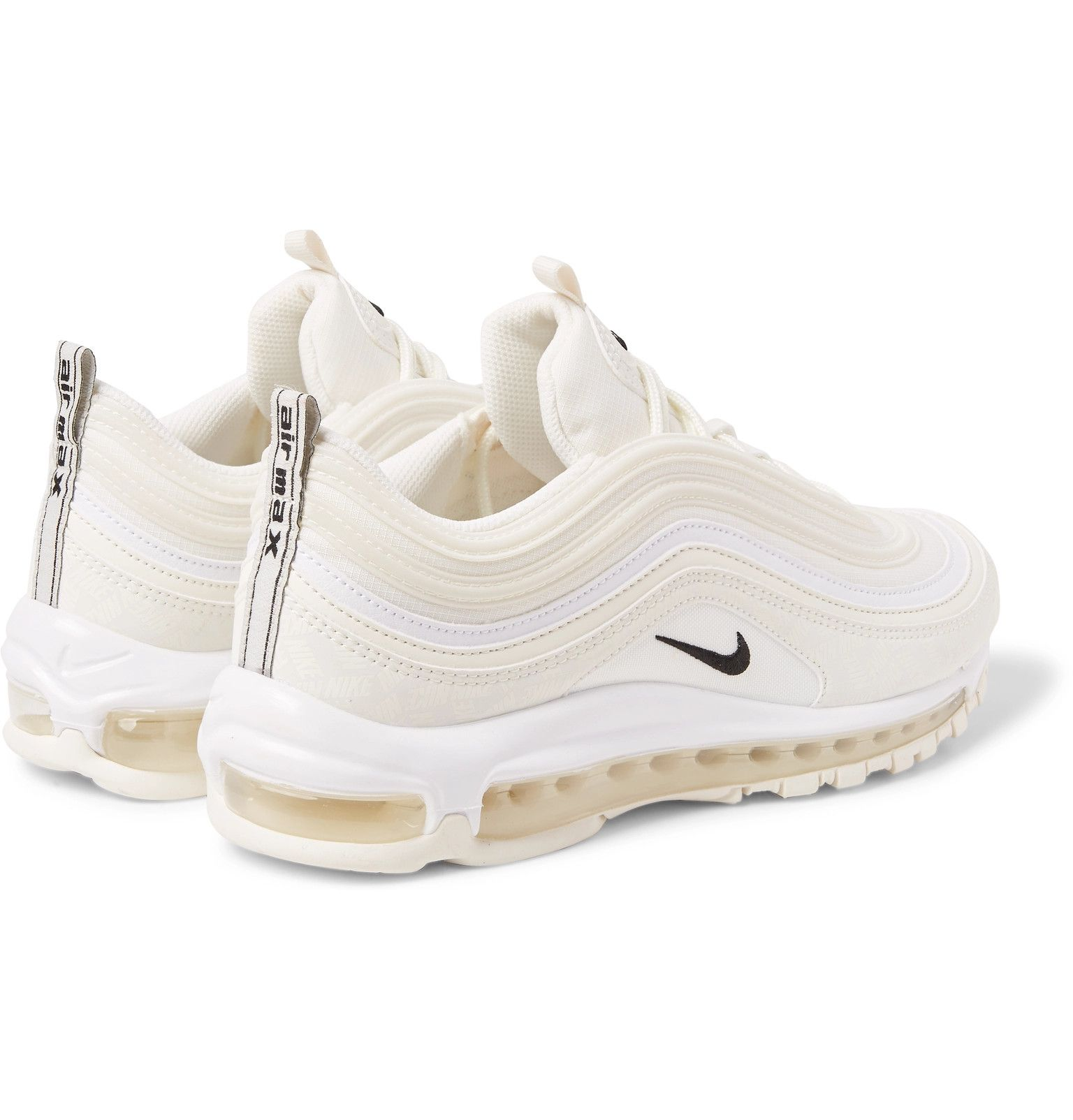 a4c10f2a182a3 Nike - Air Max 97 Future Tech Leather-Trimmed Ripstop Sneakers | Tags: low  tops, monochromatic, off white, cream