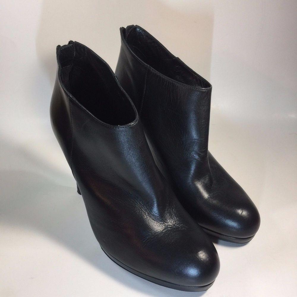 1e3a10981f5d LK Bennett of London Safia Platform Black Leather Ankle Boots UK Size 39 US  8.5  LKBennett  AnkleBoots  Party