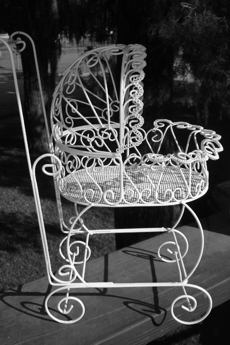 Antique Wire Carriage   Perfect For Baby Shower Decorations. $15.95, Via  Etsy.