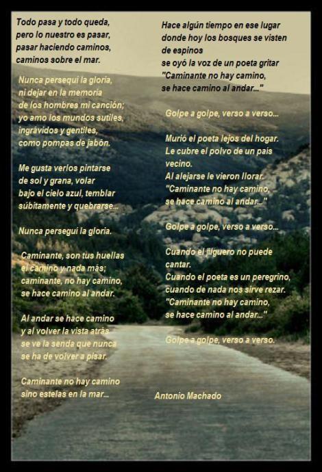 Caminante No Hay Camino Antonio Machado Poemas Sonetos