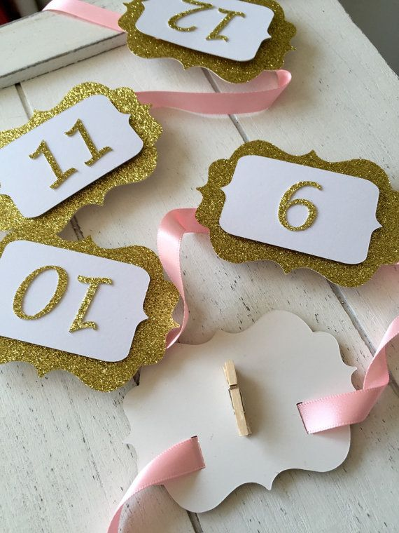 Party Decorations 12 months Banner Wall decoration Birthday girl Pink and gold 1st Birthday Party 12 MONTHS PHOTO BANNER Cake Smash