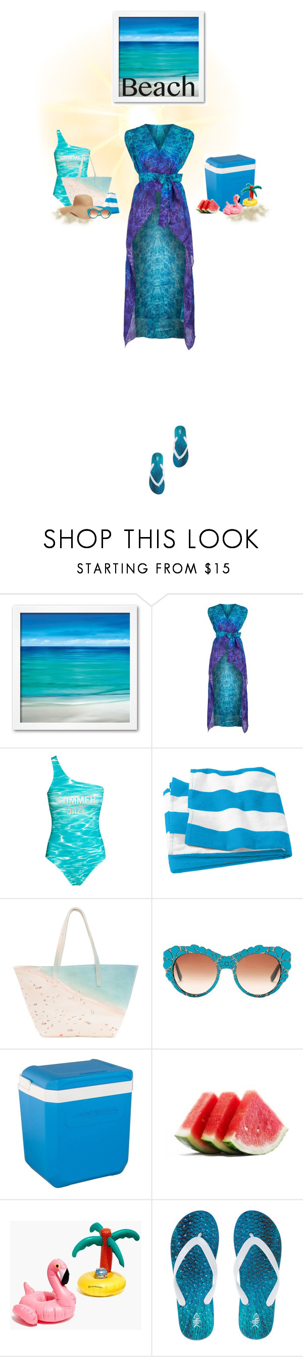"""""""BEACH.....Sun's Out: Beach Day"""" by beleev ❤ liked on Polyvore featuring Gottex, Paige Gamble, Old Navy, Dolce&Gabbana, Coleman, Madewell and beachday"""