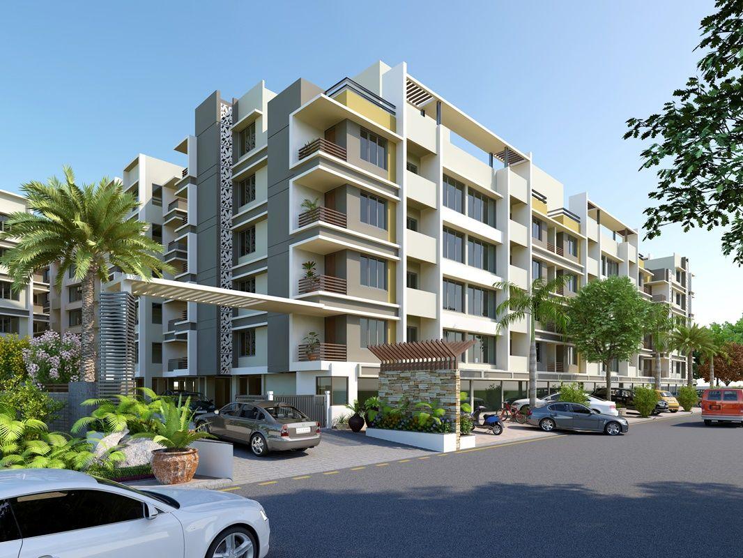 Modern Residential Exterior Design Rendering D Hi Rise - Modern apartment design exterior
