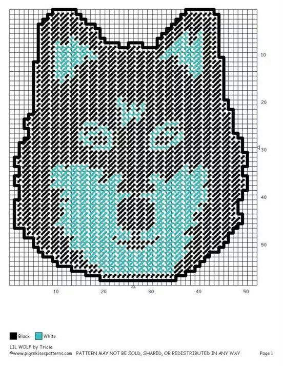 Lil Wolf Wall Hanging Plastic Canvas Patterns I Have