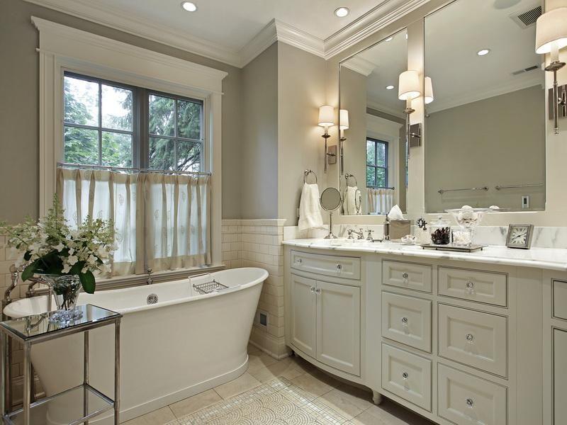Neutral Color Bathrooms Make The Room Appear Bigger Fortikur Diy Bathroom Remodel Stylish Bathroom Bathrooms Remodel