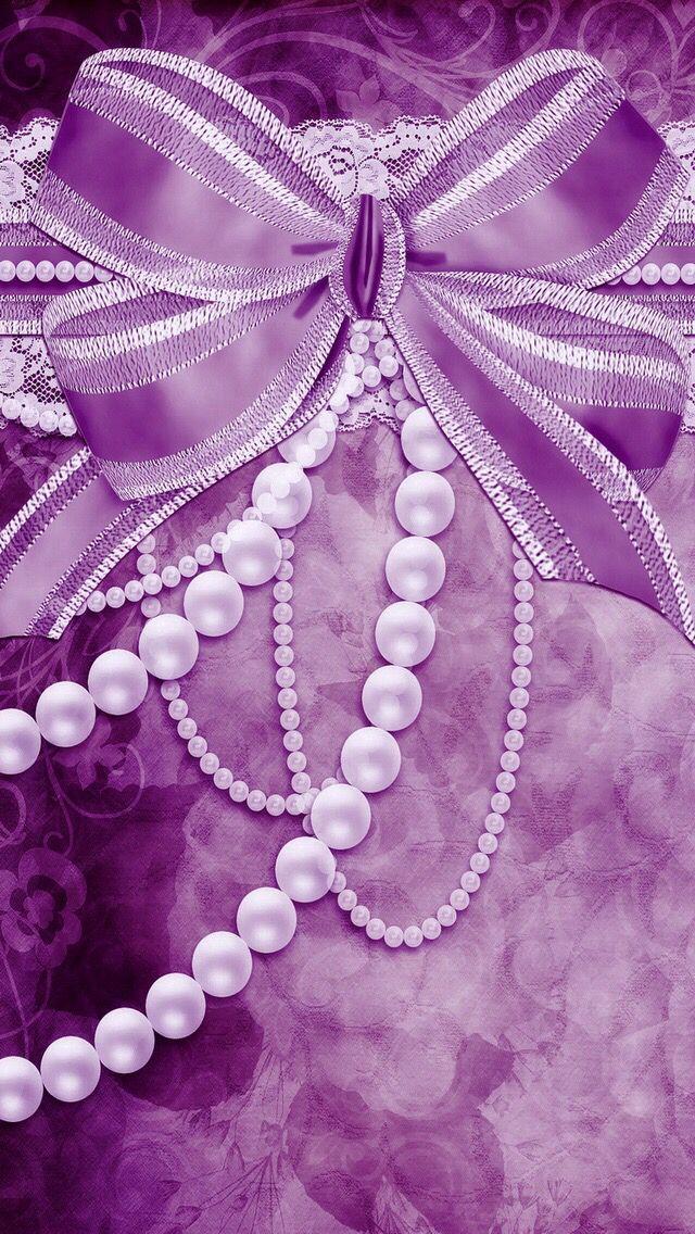 Light Purple Bows Pearl Wallpaper Bow Wallpaper Purple Wallpaper