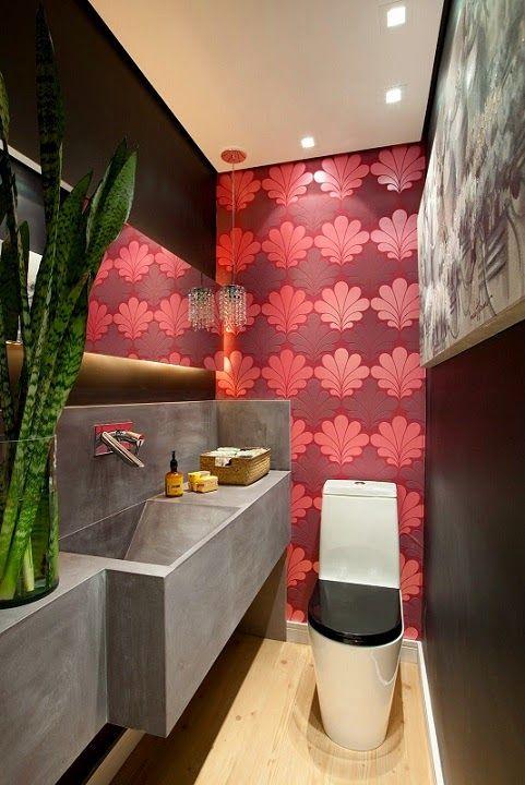 30 Lavabos pequenos e modernos - veja dicas de como ousar e decorar - lavabos pequeos