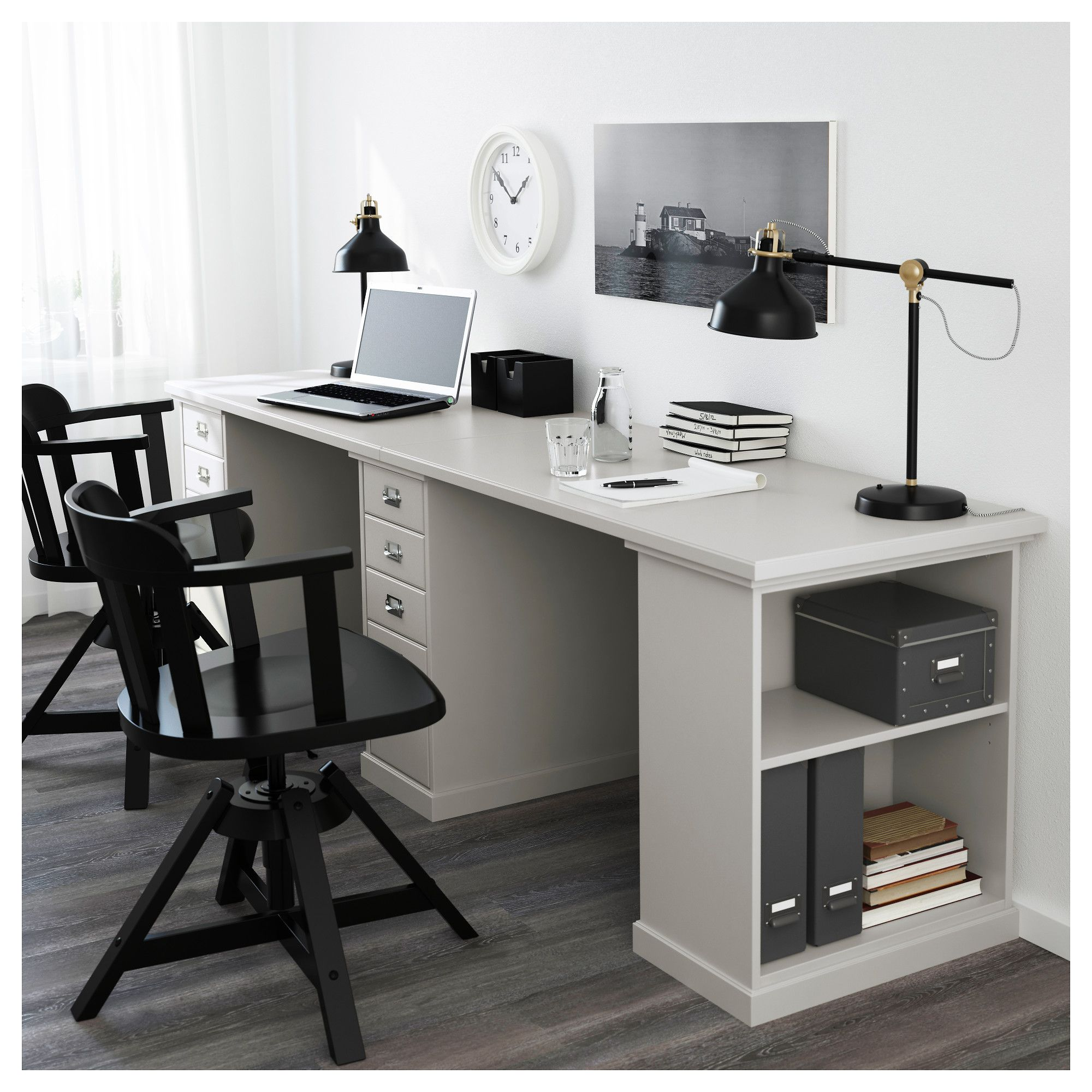 Klimpen Table Gray Light Gray Ikea Canada Ikea Home Office Furniture Home Office Design Cheap Office Furniture