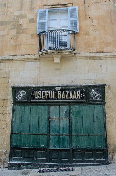 Stores shuttered on Sundays - Valletta, Malta