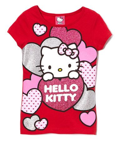 This Red Hearts Hello Kitty Tee Girls Is Perfect Zulilyfinds Hello Kitty Kitty Hello Kitty Birthday