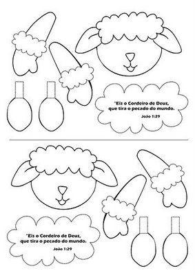 Molde Centro De Mesa Pet Feltro Moldes De Ovelhas Páscoa Cristã