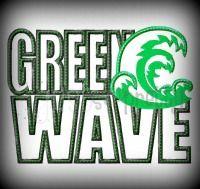 Green Wave Silhouette Applique