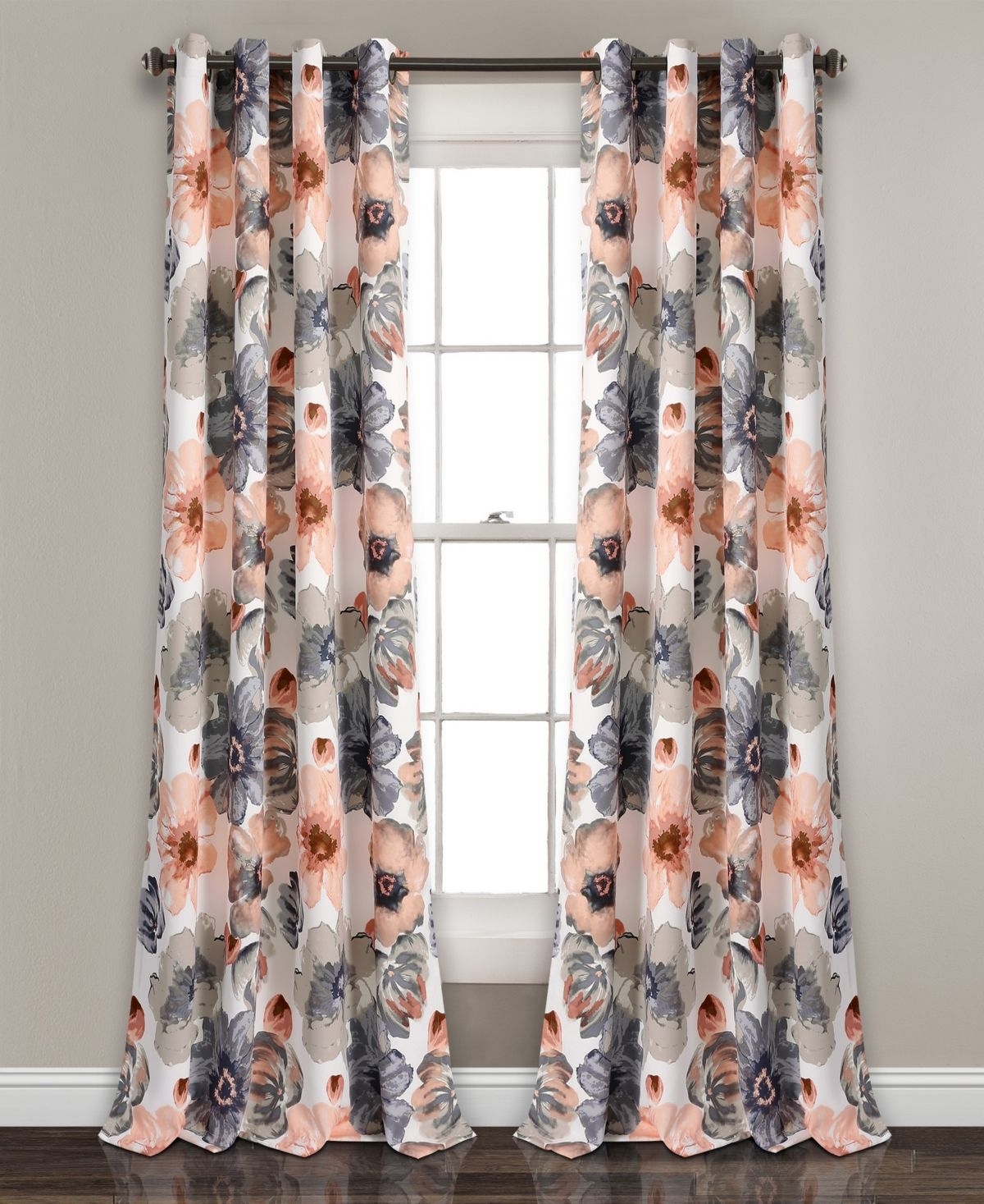 Lush Decor Leah 84 X 52 Room Darkening Window Curtain Set