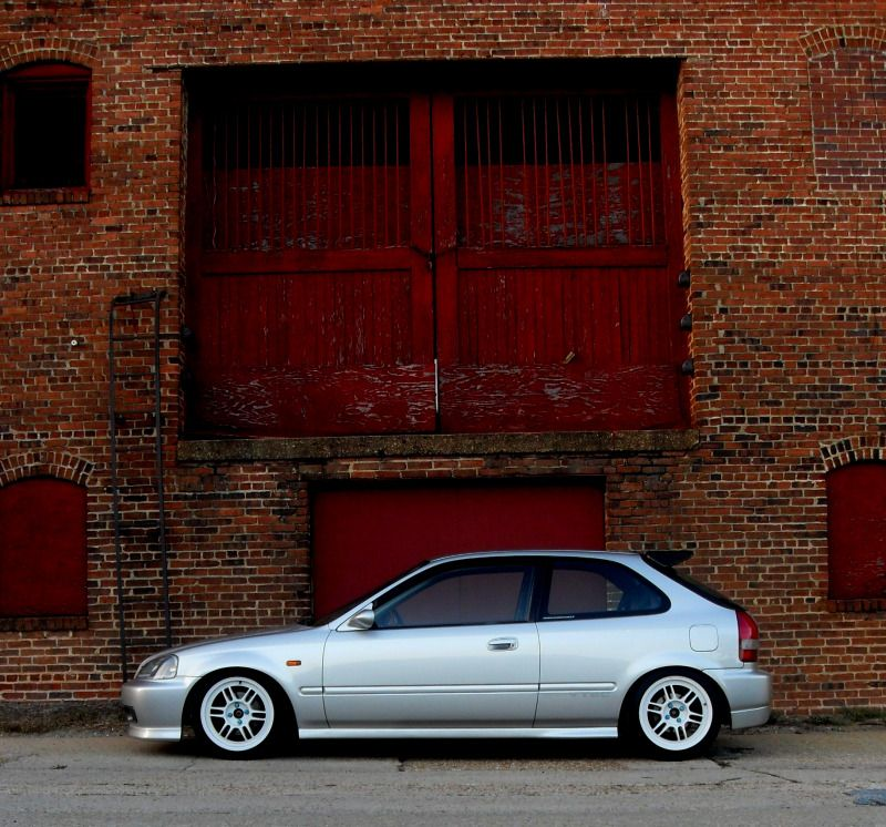 Vogue Silver Civic Ek On Enkei Rpf1 Wheels Via Ekhatch Com Hatch Life Hondas