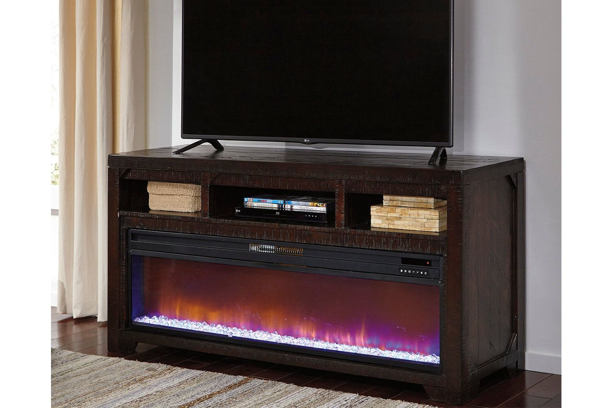 Rogness TV Stand with Fireplace Option