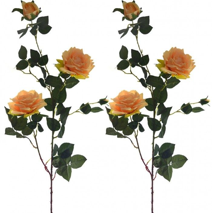 Lovely Artificial Rose Peach Artificial Flowers Flowers Online Flower Decorations