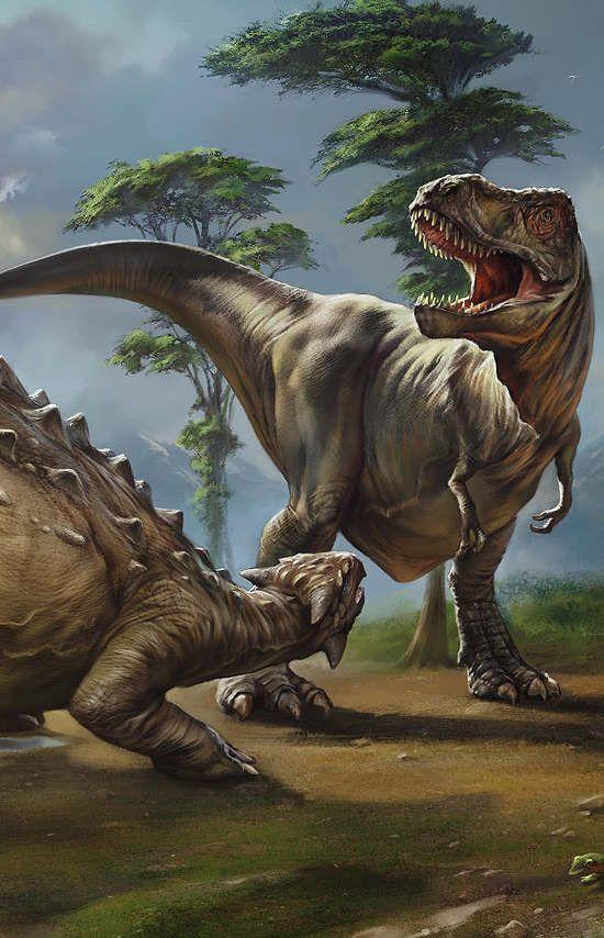 Ankylosaurus & Tyrannosaurus - The Art of Eldar Zakirov #prehistoricanimals