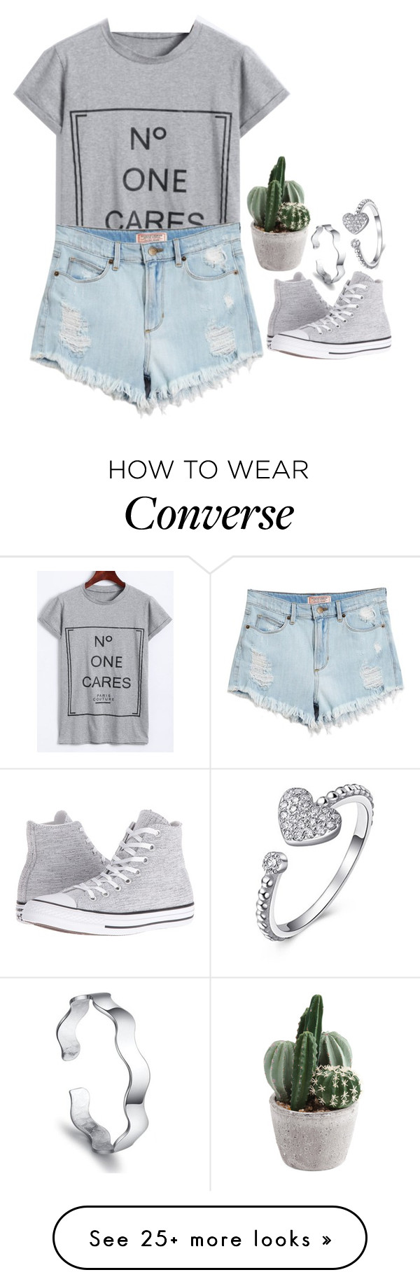 """""""Rosegal 1.14"""" by emilypondng on Polyvore featuring GUESS and Converse"""