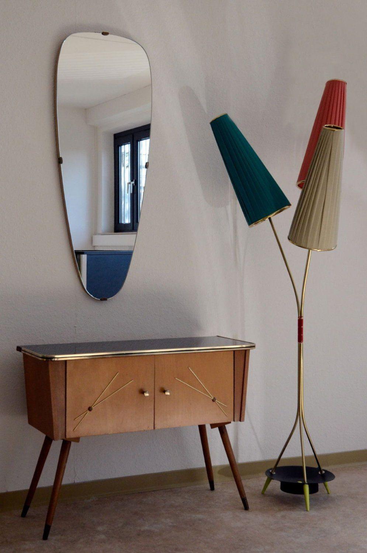 Schlafzimmer Lampe 50er  50er Jahre Lampe Mit 3 Lampenschirmen Amazonde